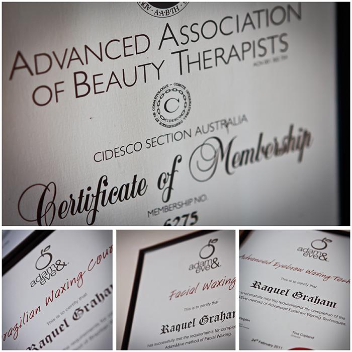 waxing certificate female wax brazilian manzilian australia